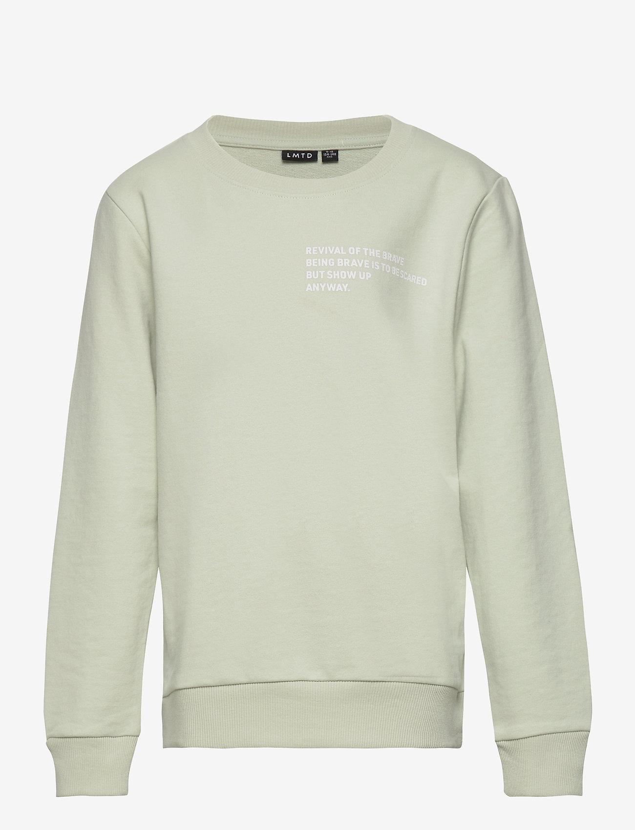 LMTD - NLMFISTAN LS SWEAT - sweatshirts - mercury - 0