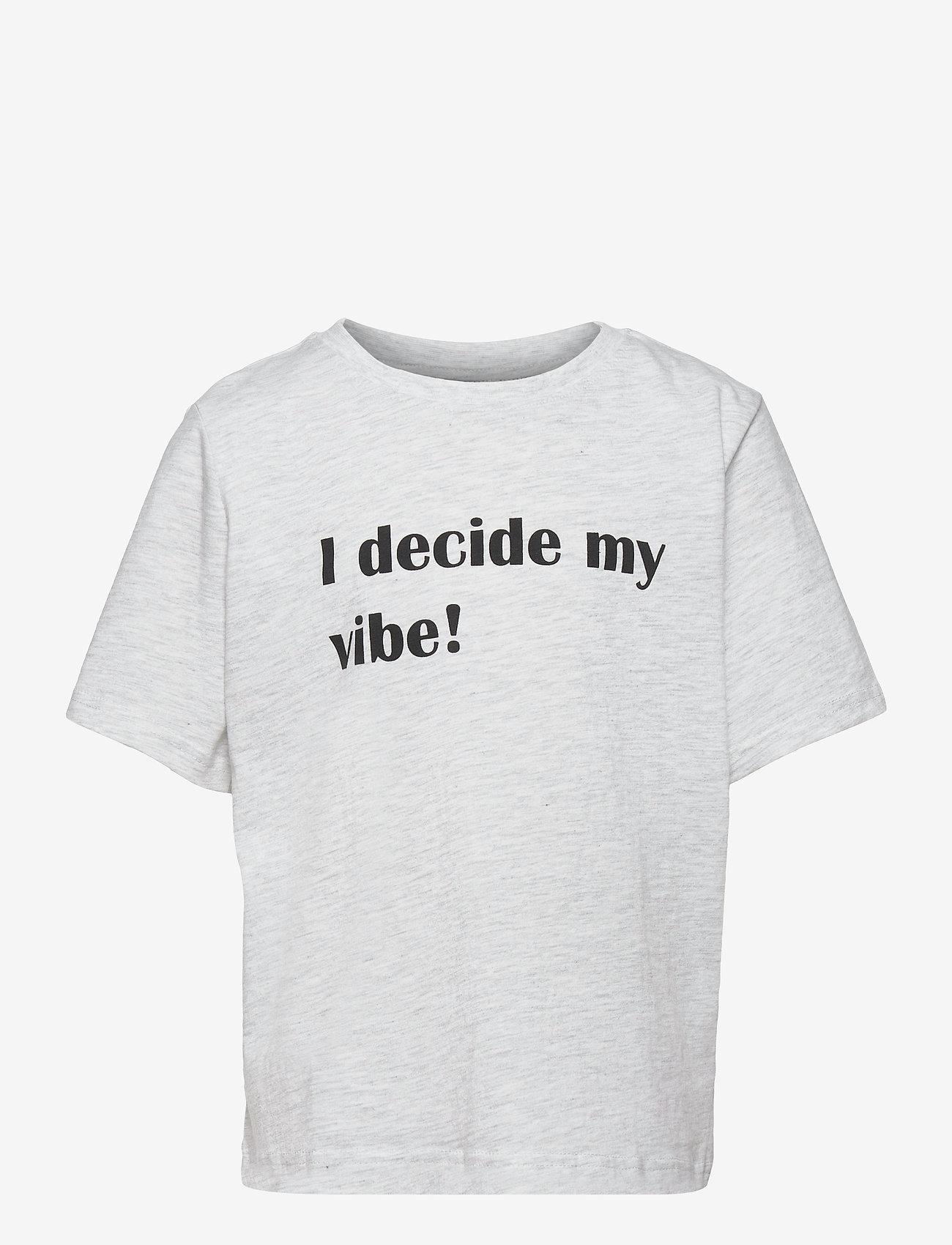 LMTD - NLFDUNNY SS SHORT TOP BOX - t-shirts - light grey melange - 0