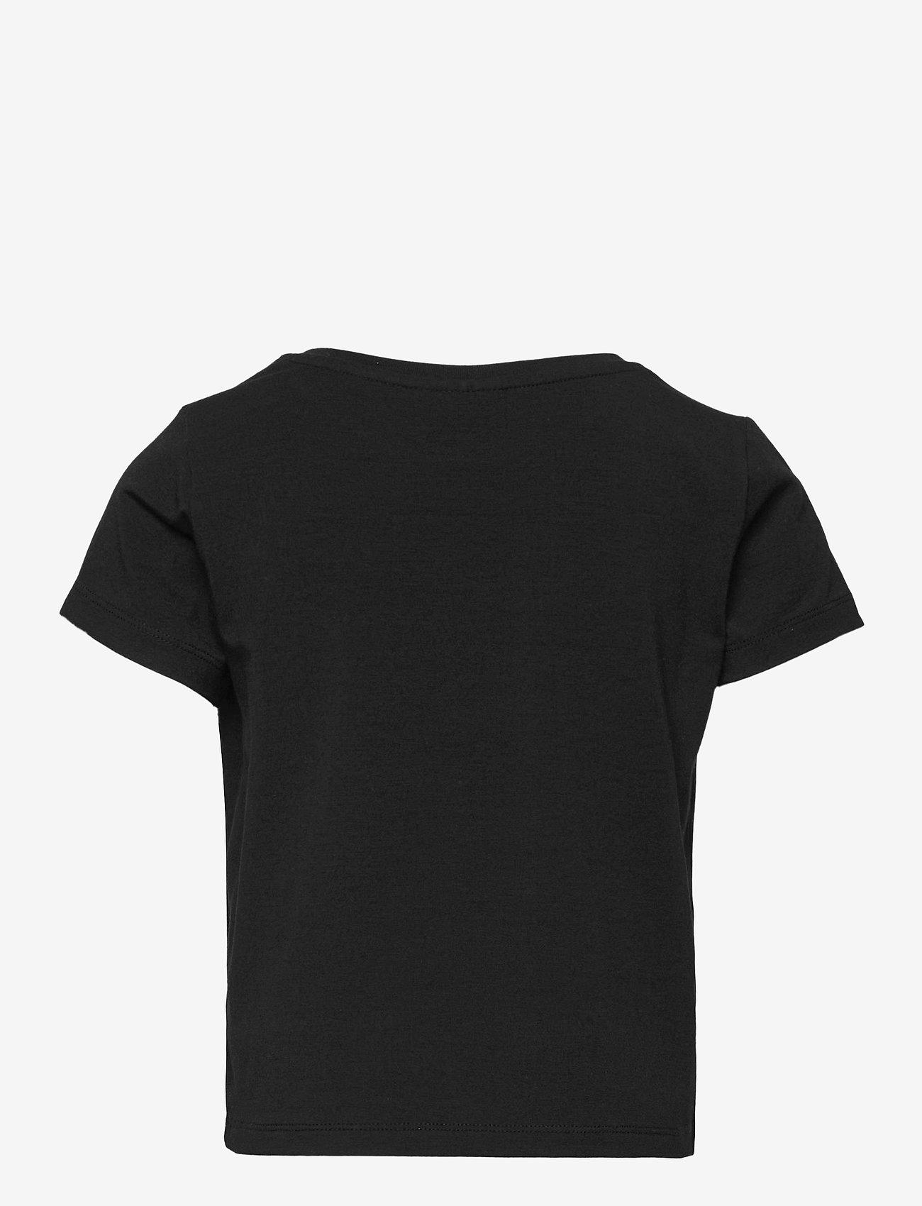 LMTD - NLFODAISY SS SHORT R TOP - t-shirts - black - 1