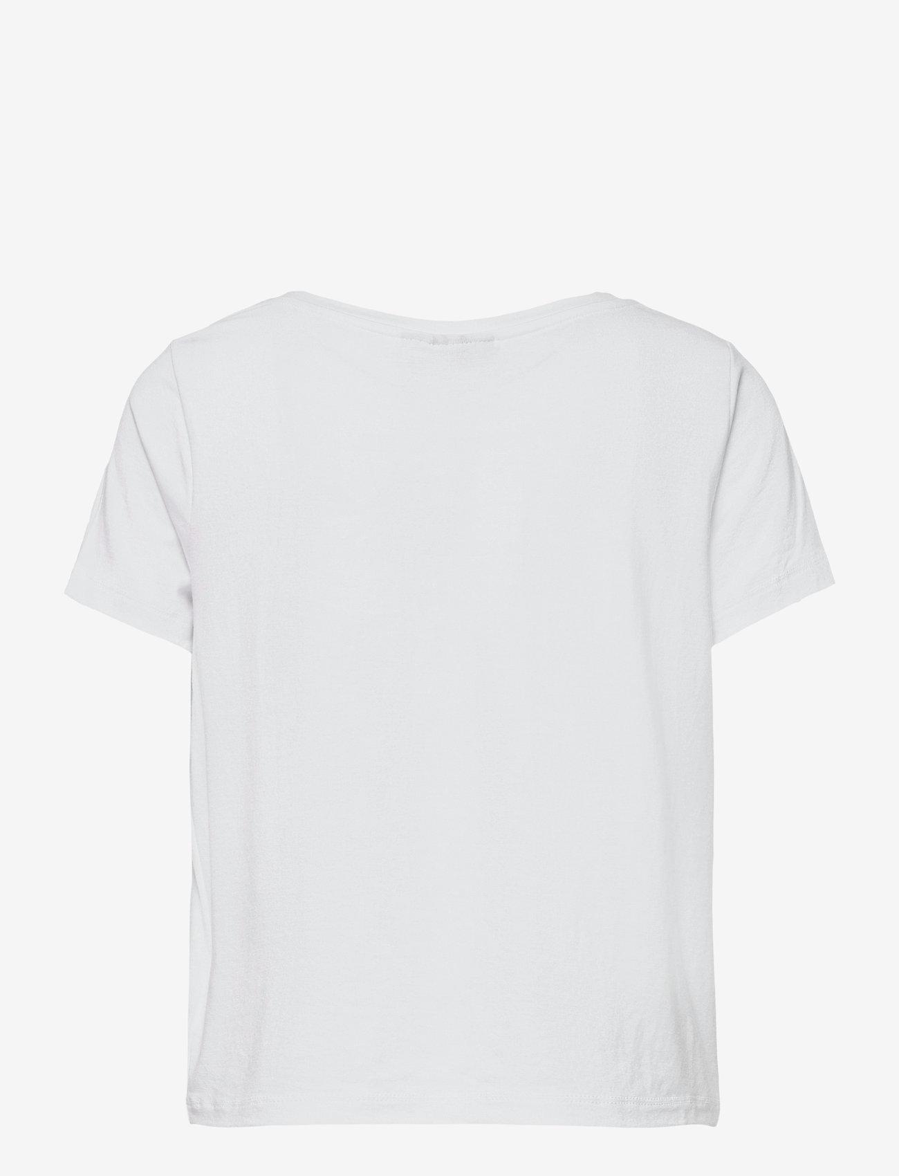 LMTD - NLFODAISY SS SHORT R TOP - t-shirts - bright white - 1