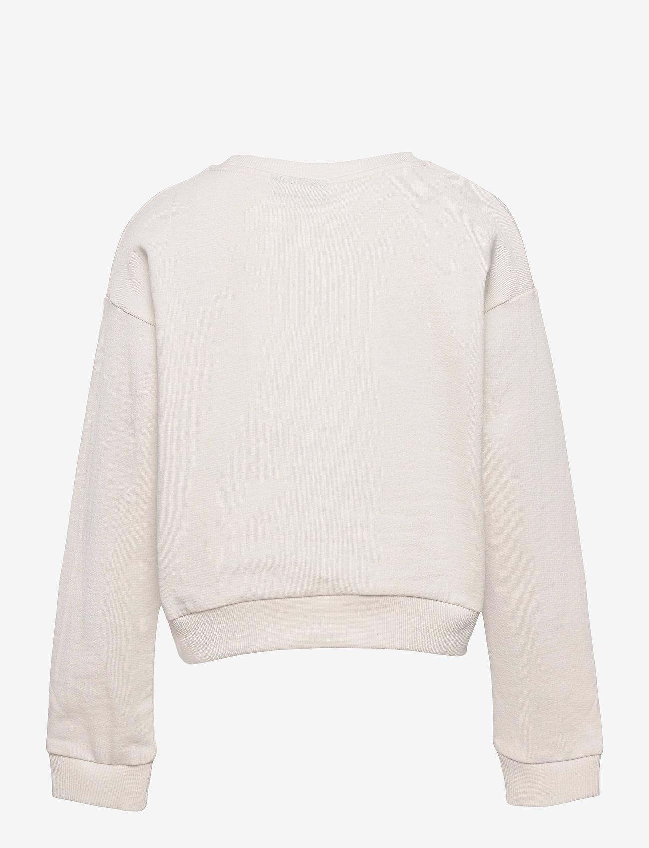 LMTD - NLFFETROS LS SHORT SWEAT - sweatshirts - snow white - 1