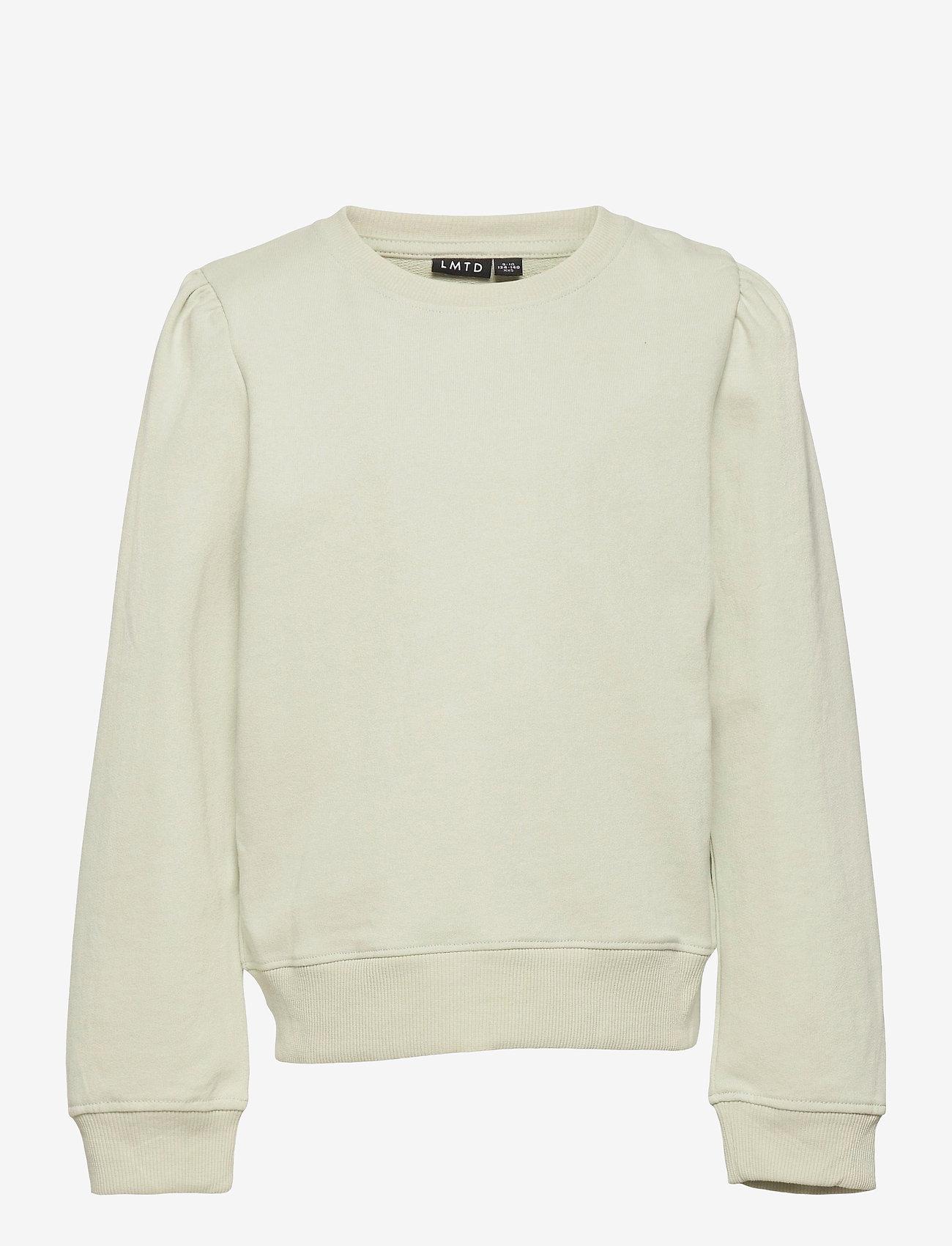 LMTD - NLFFATIAN LS SHORT SWEAT - sweatshirts - mercury - 0