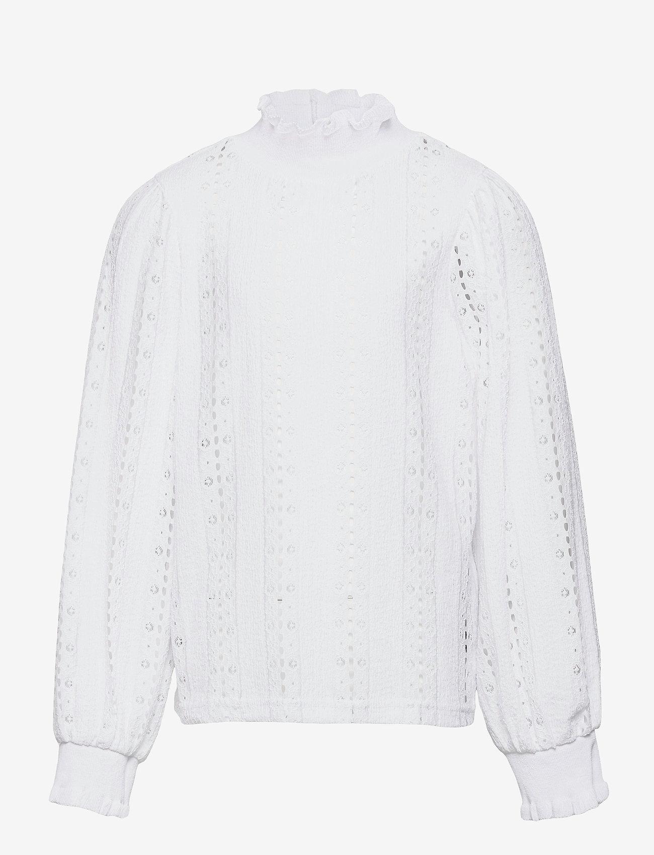 LMTD - NLFFLACE LS TURTLENECK TOP - blusen & tuniken - bright white - 0