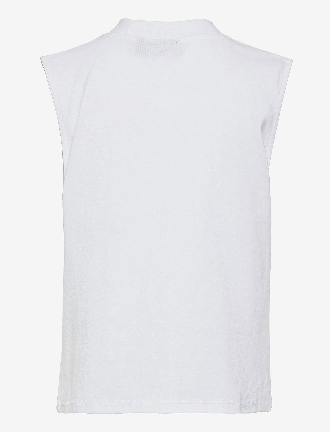 LMTD - NLFHEKPEN SL SHORT R TURTLENECK TOP - t-shirts - bright white - 1