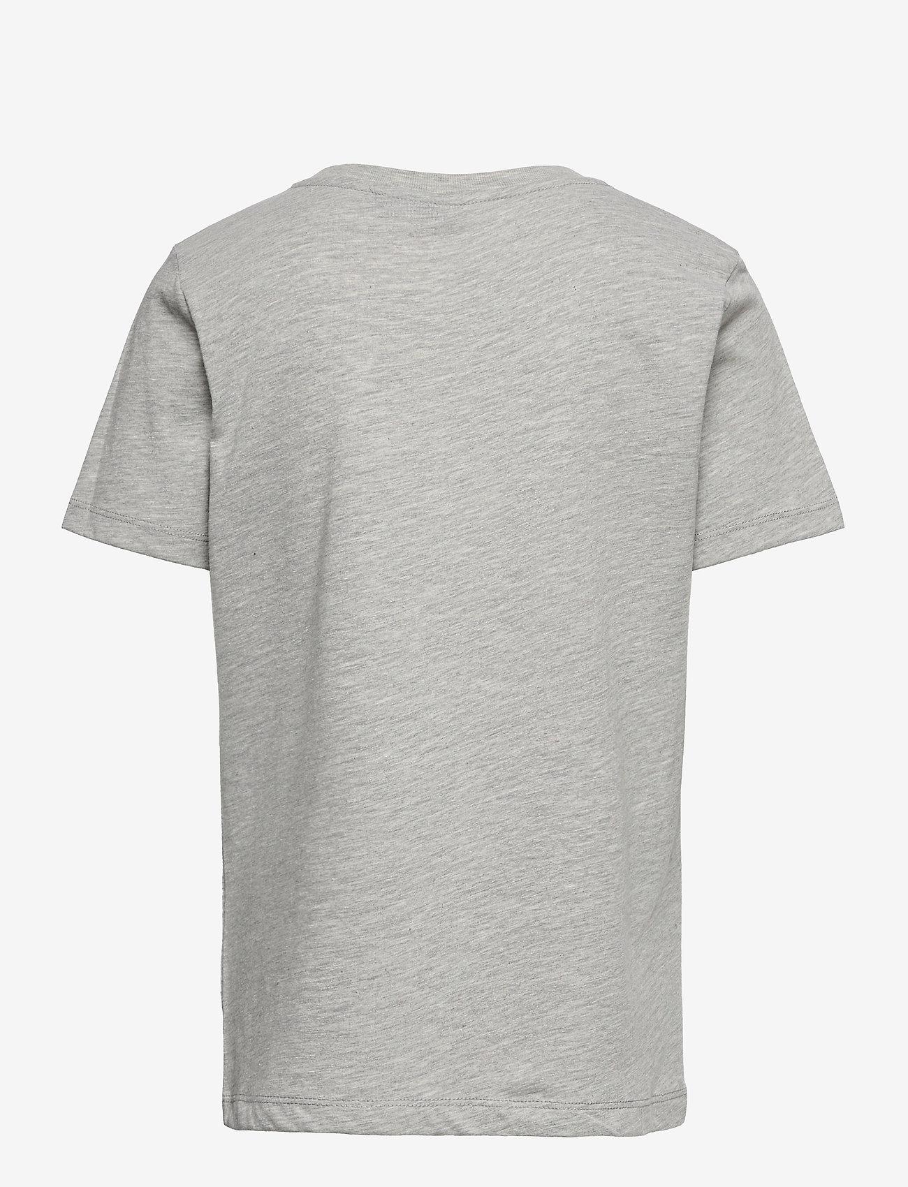 LMTD - NLMHYE SS R TOP BOX - t-shirts - light grey melange - 1
