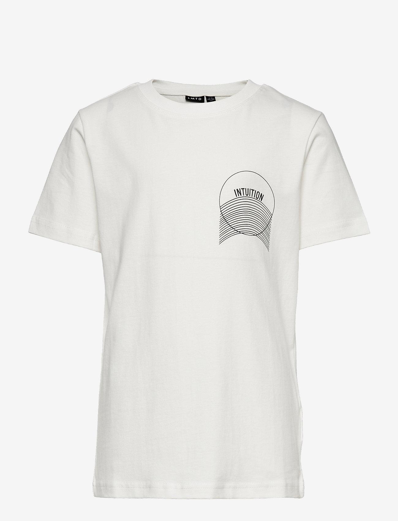 LMTD - NLMLEONARD SS R TOP BOX - t-shirts - snow white - 0