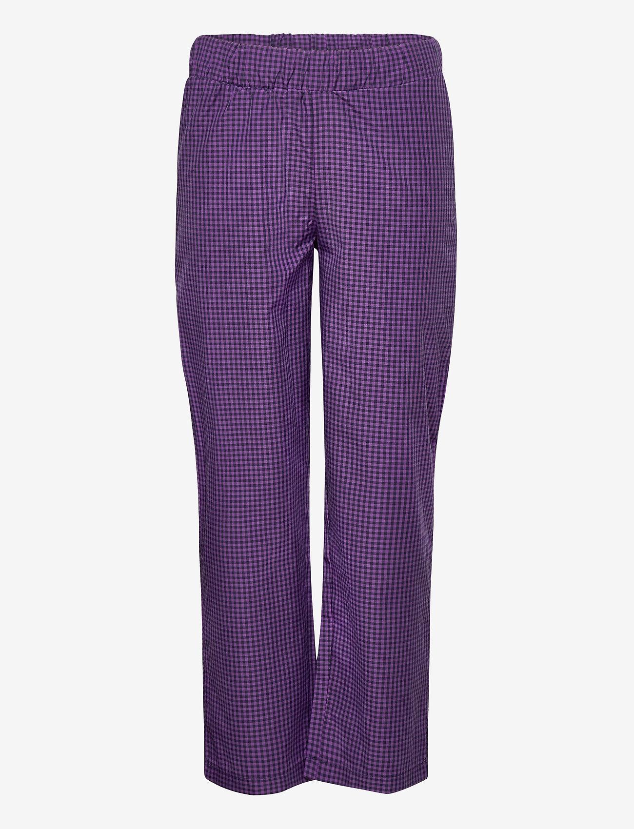 LMTD - NLFSINETTE REG CHECK PANT - hosen - purple reign - 0