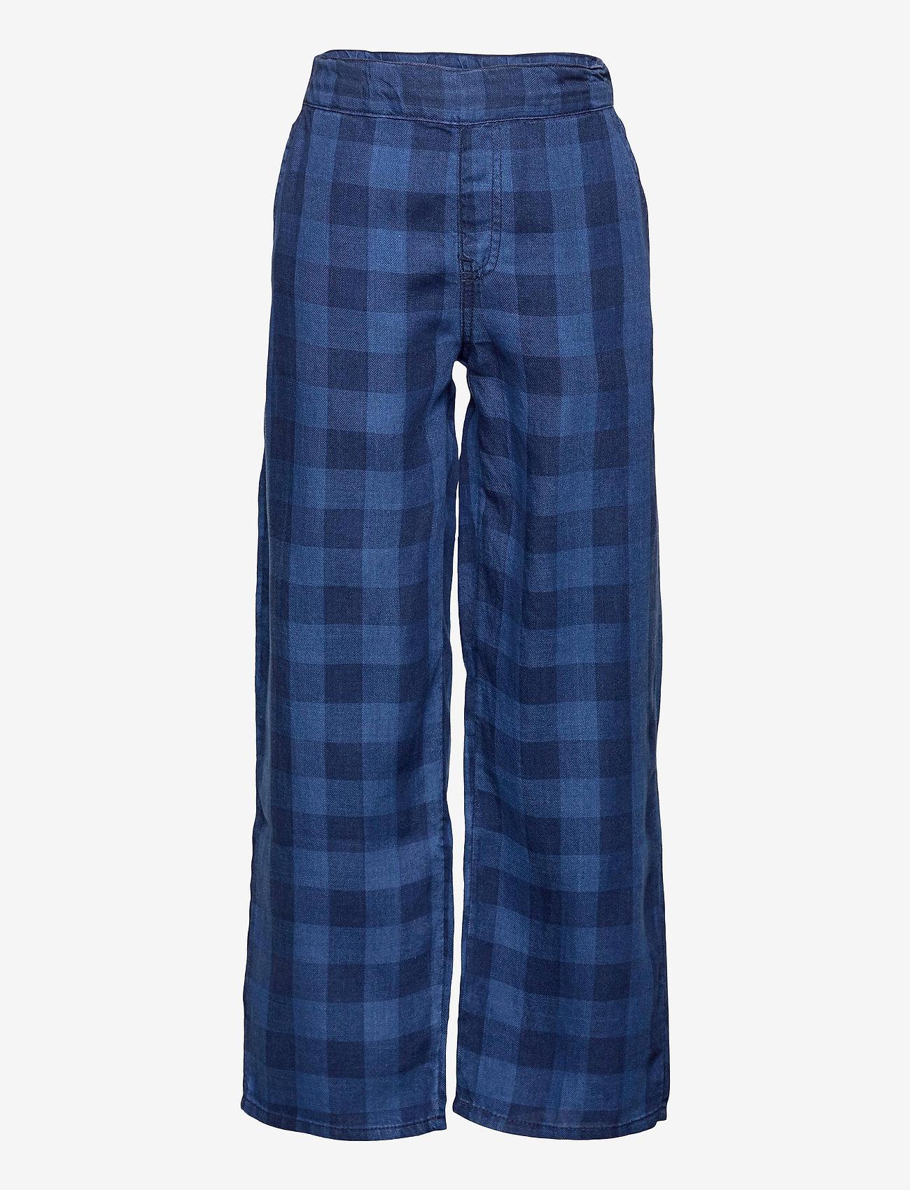 LMTD - NLFSENE DNM  REG CHECK PANT - kleidung - medium blue denim - 0
