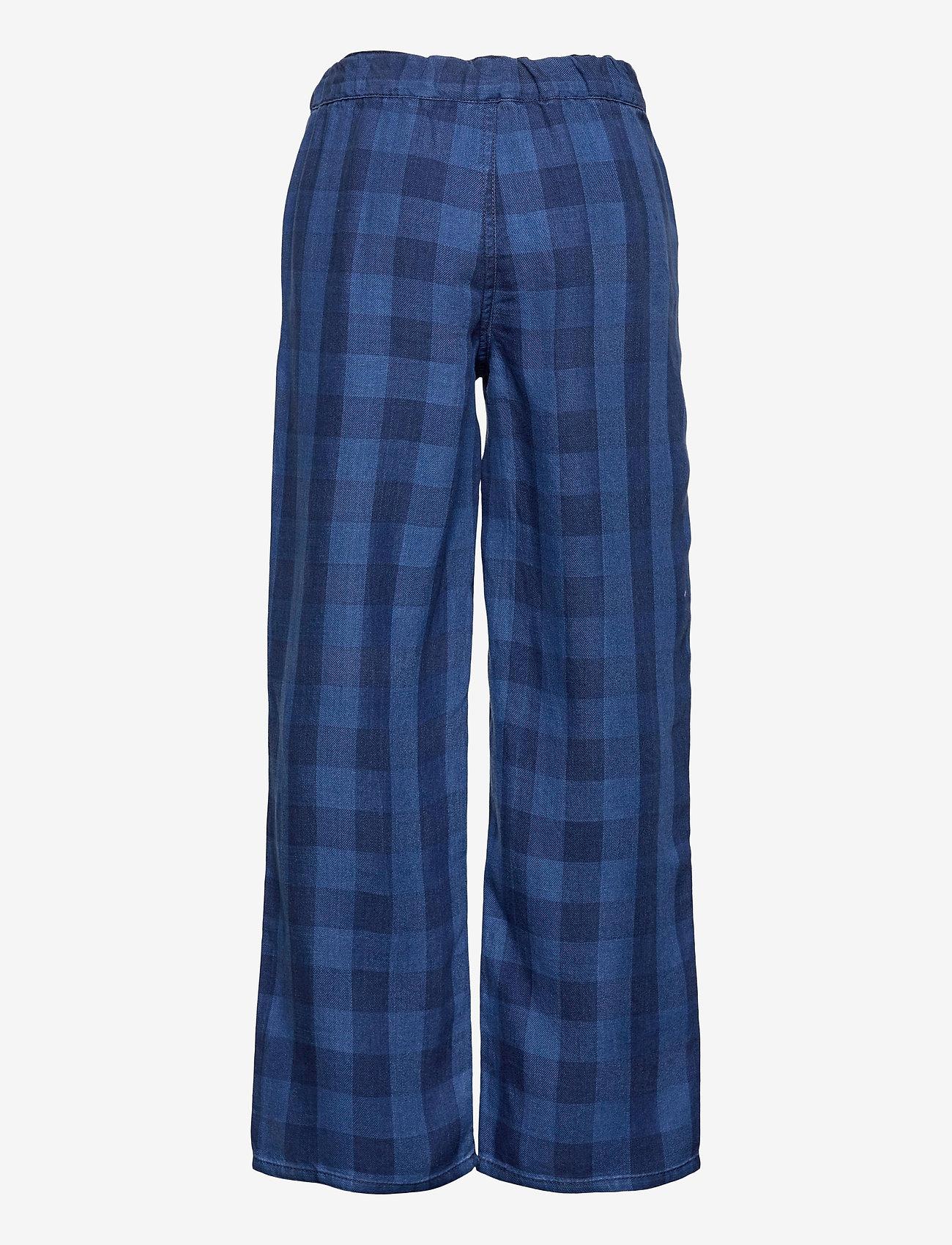 LMTD - NLFSENE DNM  REG CHECK PANT - kleidung - medium blue denim - 1