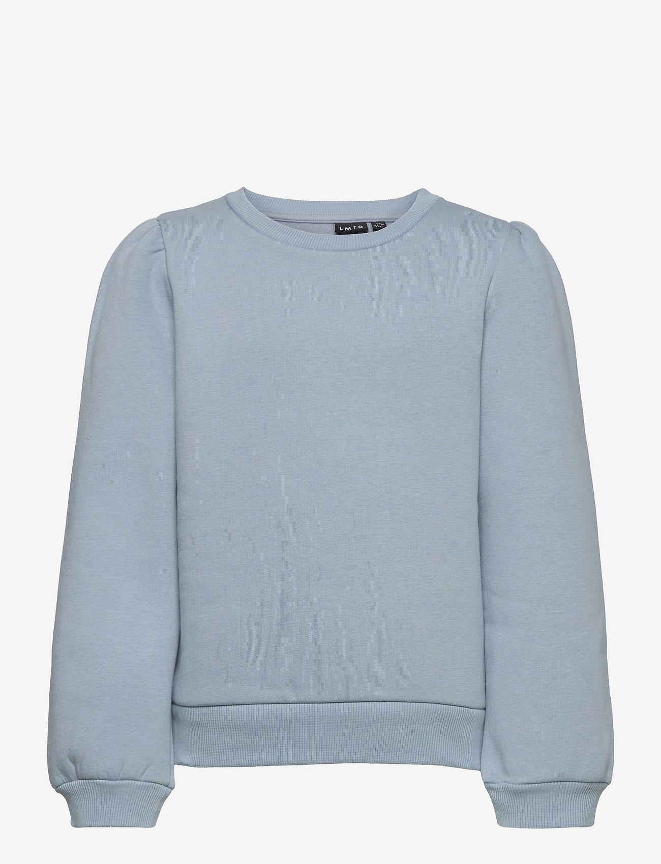 LMTD - NLFOPAL LS SHORT PUFF SWEAT - sweatshirts - dusty blue - 0
