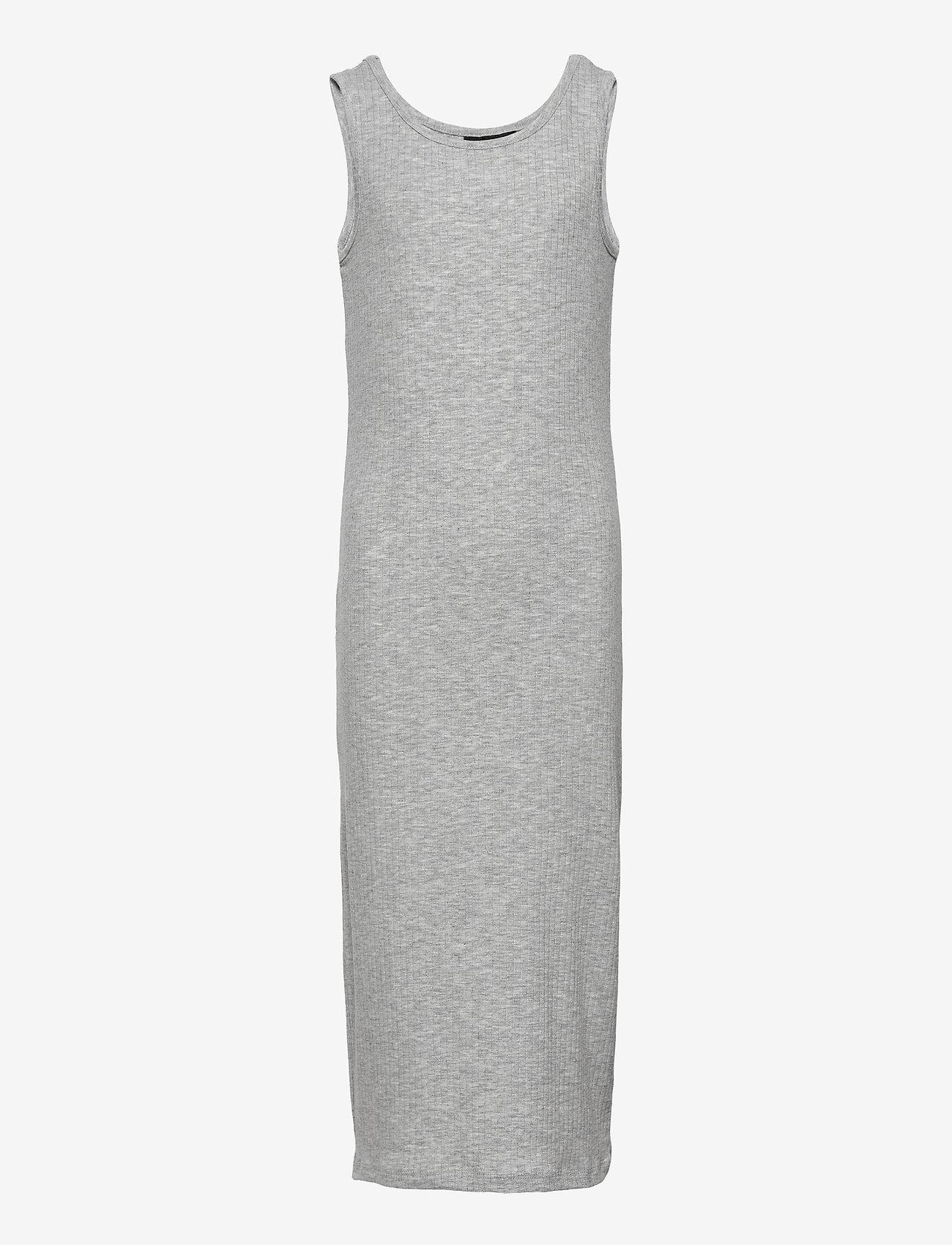 LMTD - NLFNUNNE SL MAXI DRESS - kleider - light grey melange - 0
