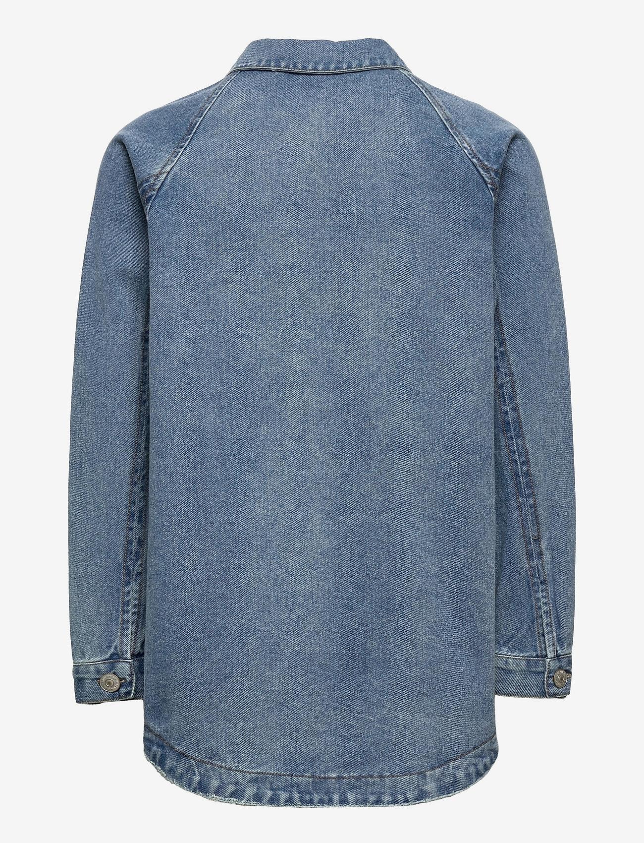 LMTD - NLFNINDY DNM LS OVERSIZE JACKET - overshirts - medium blue denim - 1