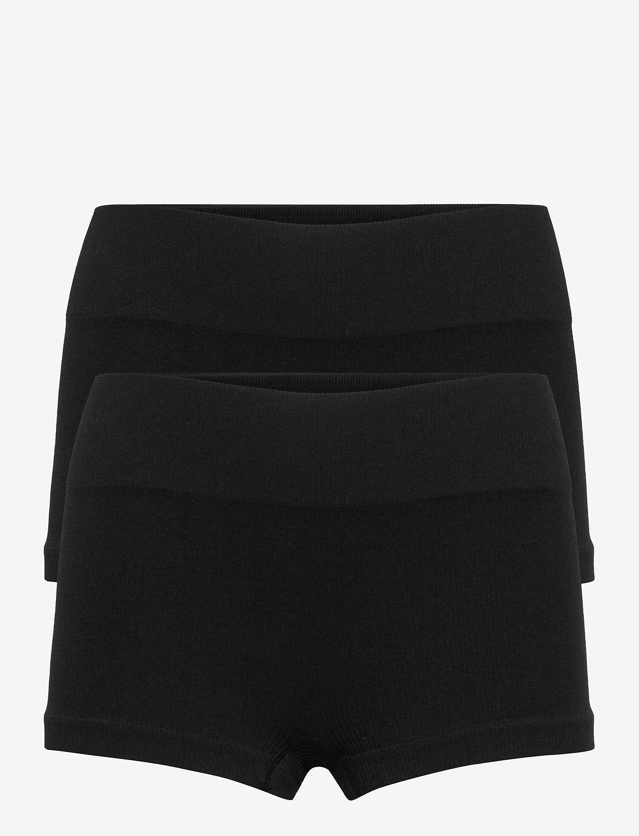 LMTD - NLFHAILEY RIB HIPSTER 2PACK - shorts - black - 0