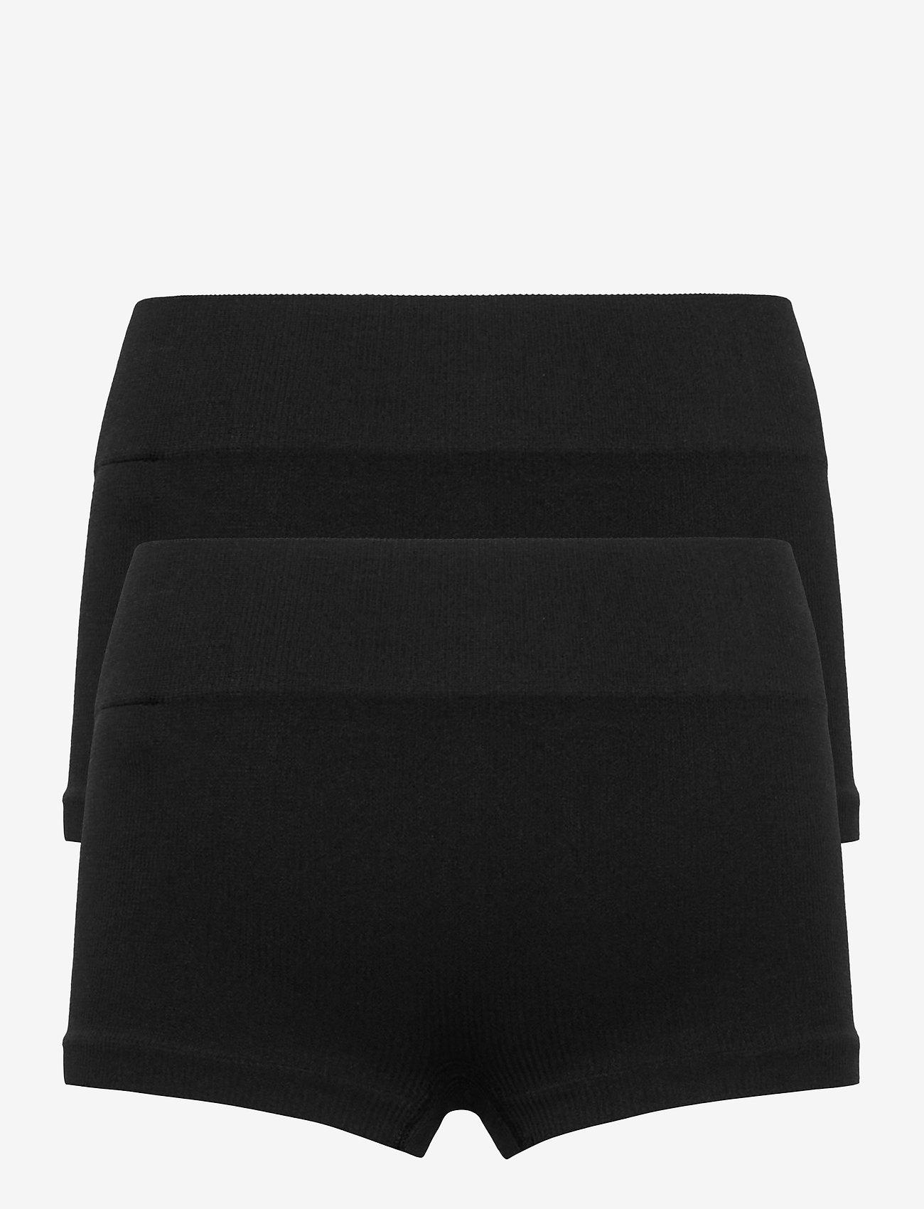 LMTD - NLFHAILEY RIB HIPSTER 2PACK - shorts - black - 1