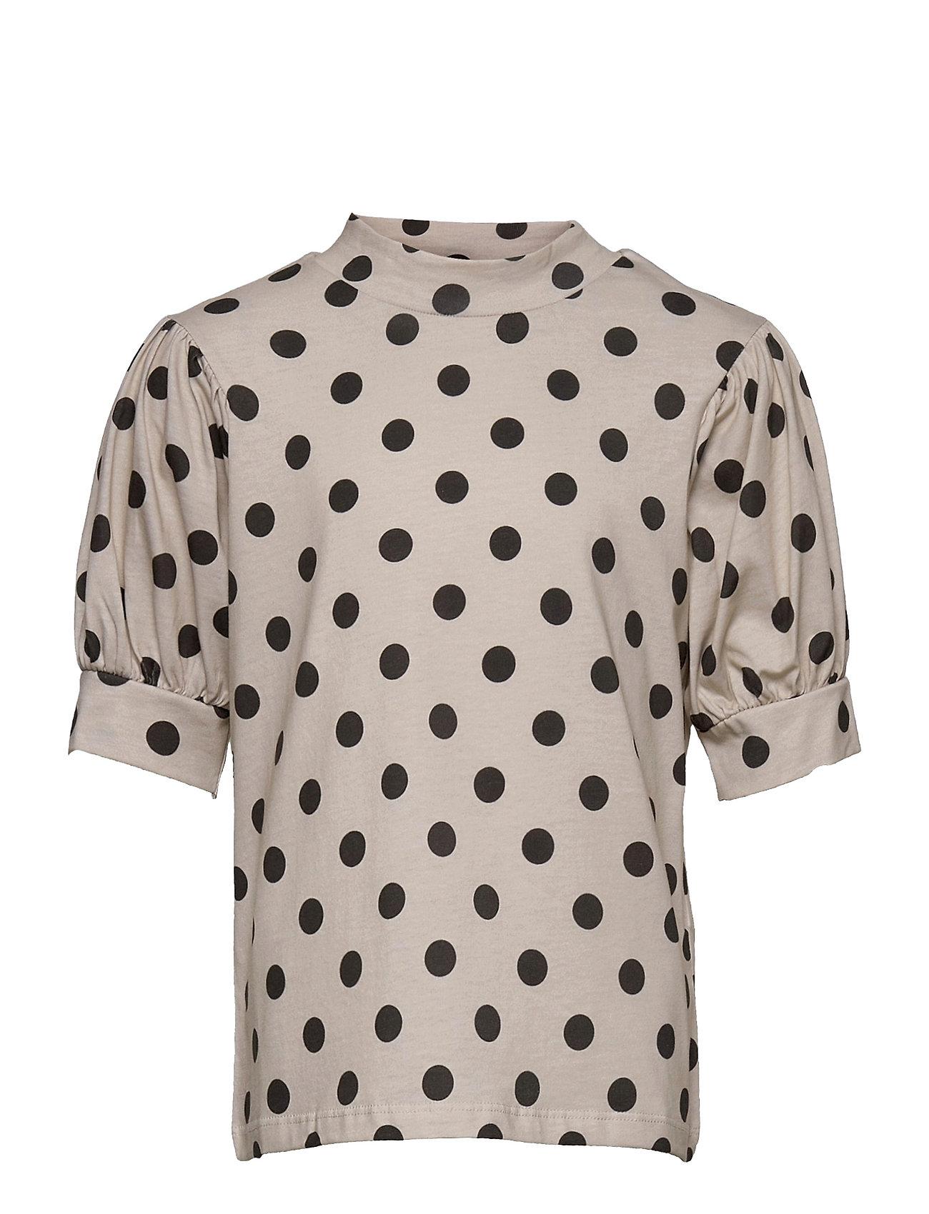 Nlffluff Ballon Short R Top Bluse Tunika Sort LMTD