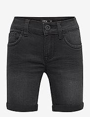 LMTD - NLMSHAUN DNMBATONSONS LONG SHORTS NOOS - shorts - black denim - 0