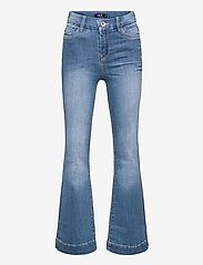 LMTD - NLFPIL DNMATEJAS 2455 HW BOOT PANT NOOS - boot cut jeans - medium blue denim - 0
