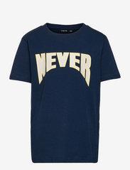 LMTD - NLMNADAL SS R TOP - t-shirts - dress blues - 0
