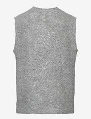 LMTD - NLFMALLEN  KNIT VEST - westen - grey melange - 1