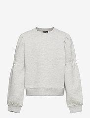 LMTD - NLFOPALELLA LS  SHORT SWEAT - sweatshirts - light grey melange - 0