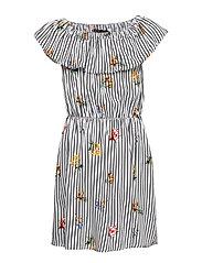 NLFFONGA OFF SHOULDER DRESS - BRIGHT WHITE