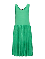 NLFFIRENZE SL PLEATED DRESS - LEPRECHAUN