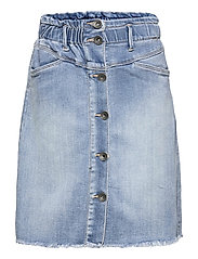 NLFRAVEN DNMATASPERS 1467 HW A SKIRT - LIGHT BLUE DENIM