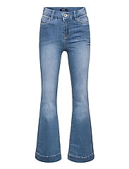 NLFPIL DNMATEJAS 2455 HW BOOT PANT NOOS - MEDIUM BLUE DENIM