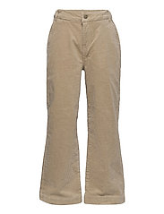NLFANICKA CORD HW ANCLE WIDE PANT - WHITE PEPPER