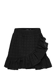 NLFDAMBER SHORT SKIRT WL - BLACK