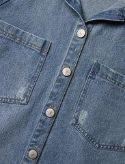 LMTD - NLFNINDY DNM LS OVERSIZE JACKET - overshirts - medium blue denim - 2