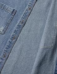 LMTD - NLFNINDY DNM LS OVERSIZE JACKET - overshirts - medium blue denim - 4