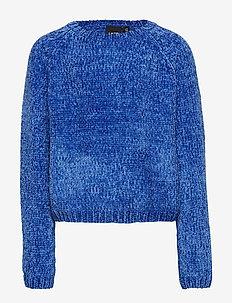 NLFLUNA LS SHORT KNIT NOOS - DAZZLING BLUE