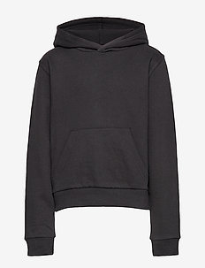 NLFLAVINA LS SHORT SWEAT W HOOD - BLACK