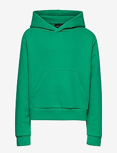 NLFONDREA LS SHORT SWEAT W HOOD - EMERALD