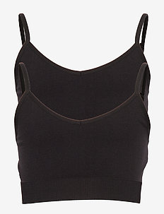 NLFHALEY SEAMLESS BRALETTE 2 PACK NOOS - BLACK