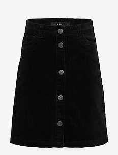 NLFBANICKA CORD SHORT SKIRT BN - BLACK