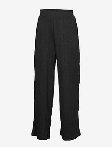 NLFTELSA WIDE PANT - spodnie - black