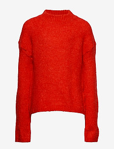 NLFODETTEO LS SHORT KNIT R - MARS RED