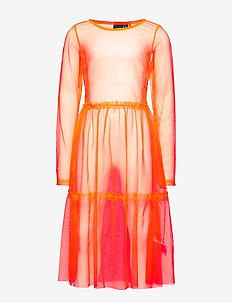 NLFHARISSA LS DRESS - jurken - fiery coral