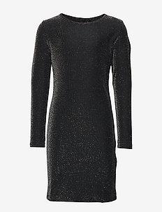 NLFSUNA LS SLIM DRESS - BLACK