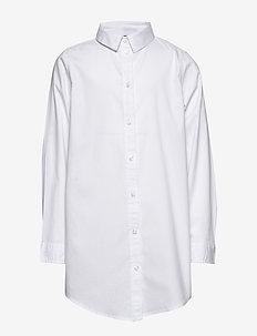 NLFDELANEY LS OVERSIZED SHIRT - overhemden - bright white