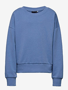 NLFKATIANA LS SHORT O-NECK - sweatshirts - blue yonder