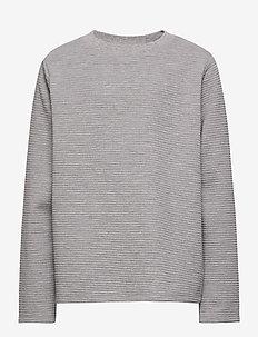 NLMLION LS R TOP - langermede t-skjorter - grey melange