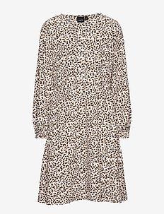NLFRUCHIRA LS  DRESS - SNOW WHITE