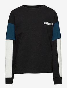 NLMNOEL LS REG TOP - langermede t-skjorter - black