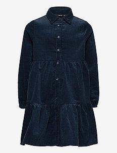 NLFOLAILA LS DRESS - klänningar - dress blues
