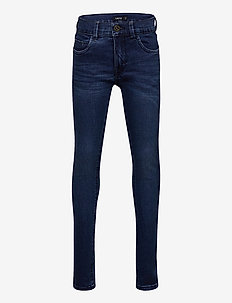 NLMPILOU DNMATOGO 3386 PANT - dżinsy - dark blue denim