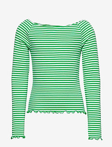 NLFDALLAS LS OFF SHOULDER  TOP - ISLAND GREEN