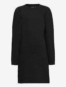 NLFTINKER LS SWEAT DRESS - robes - black